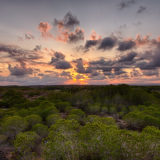 Sunset behin clouds II