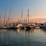 The port in the golden hour